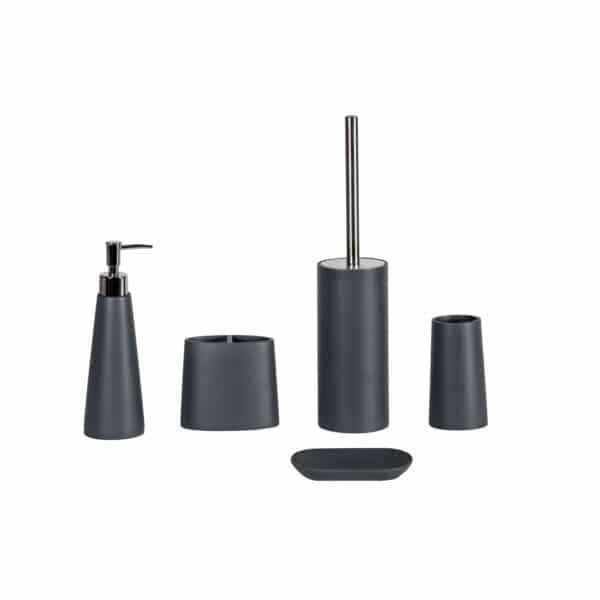Alto Grey Collection 5 Piece Set - Bathroom Accessory Sets