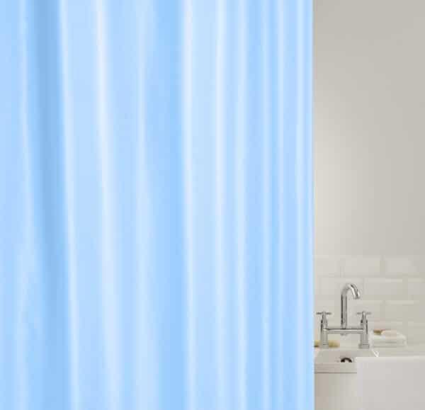 Showerplus Plain Polyester Shower Curtain Blue - Shower Accessories