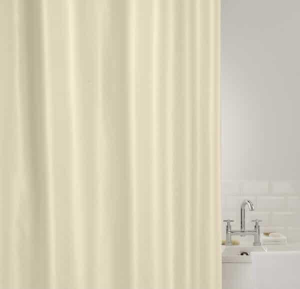 Showerplus Plain Polyester Shower Curtain Cream - Shower Accessories