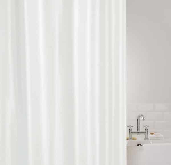 Showerplus Plain Polyester Shower Curtain White - Shower Accessories