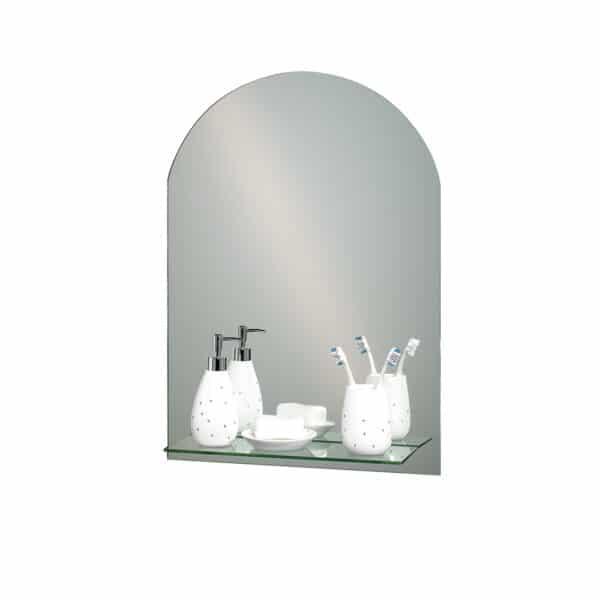 Greenwich Arch Mirror With Vanity Shelf - Bathroom Mirrors