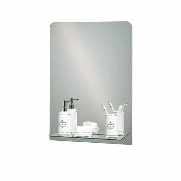 Rochester Rectangular Mirror With Vanity Shelf - Bathroom Mirrors