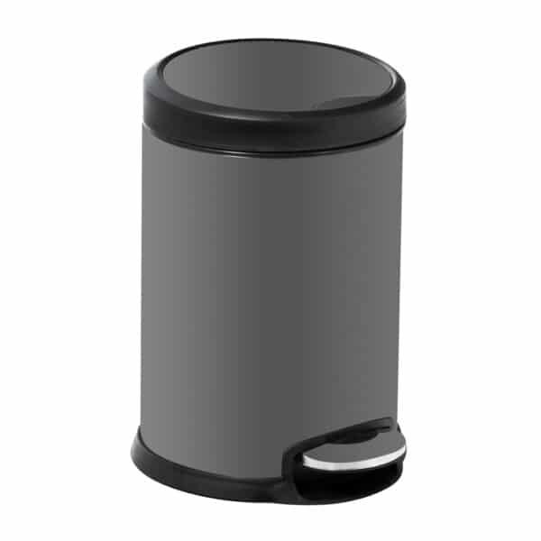 Aero Collection Stainless Steel Grey 3 Litre Pedal Bin - Bathroom Bins