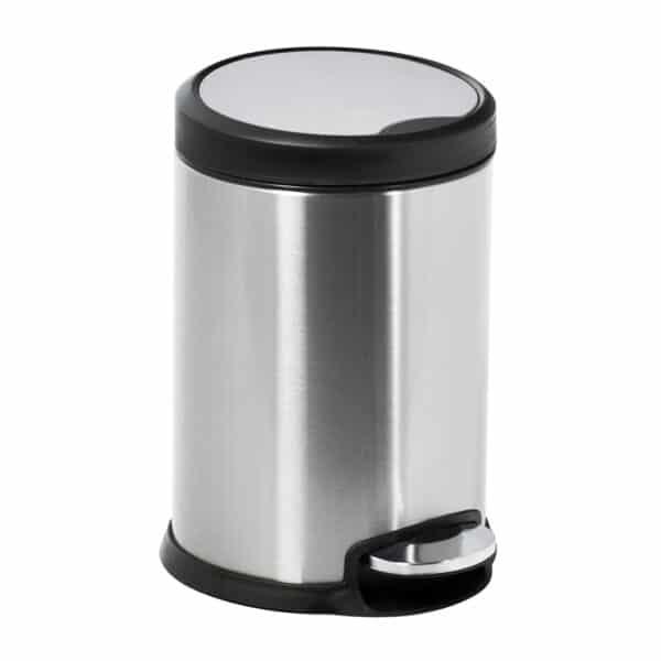 Aero Collection Stainless Steel Satin 3 Litre Pedal Bin - Bathroom Bins