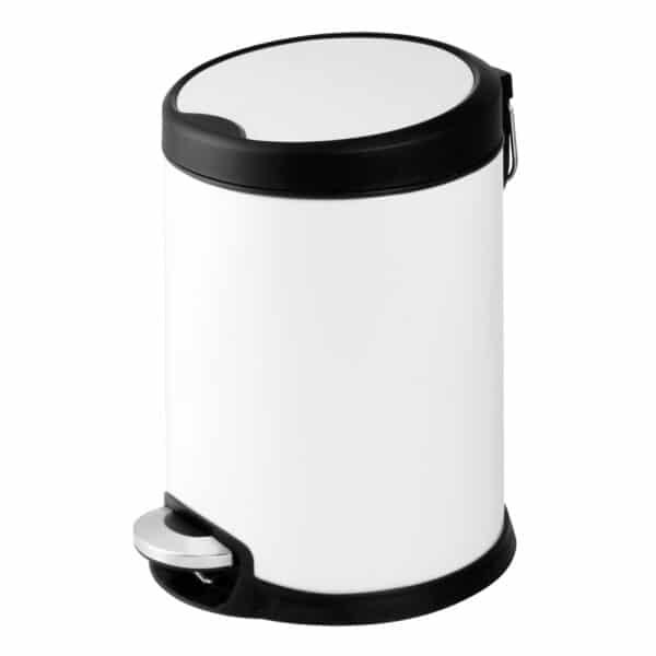 Aero Collection White 3 Litre Pedal Bin - Bathroom Bins