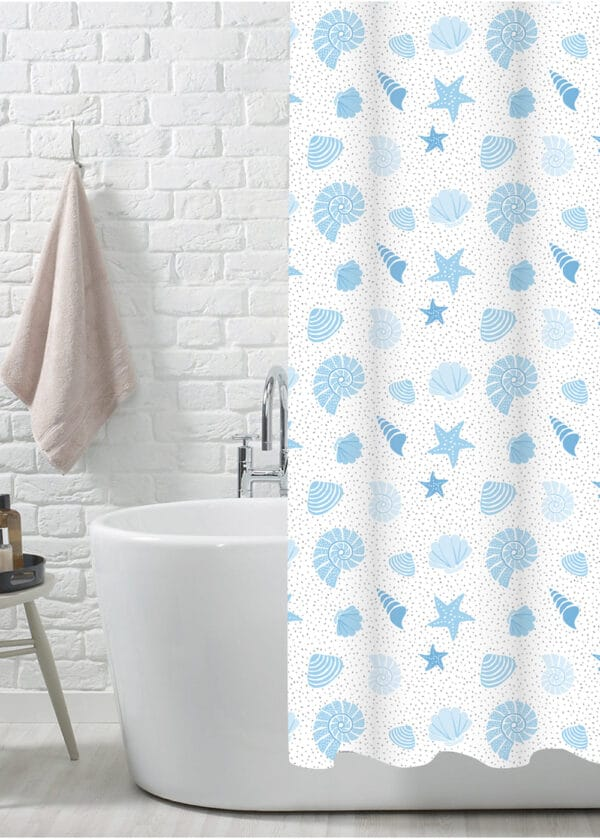 Aruba Polyester Shower Curtain - Shower Accessories