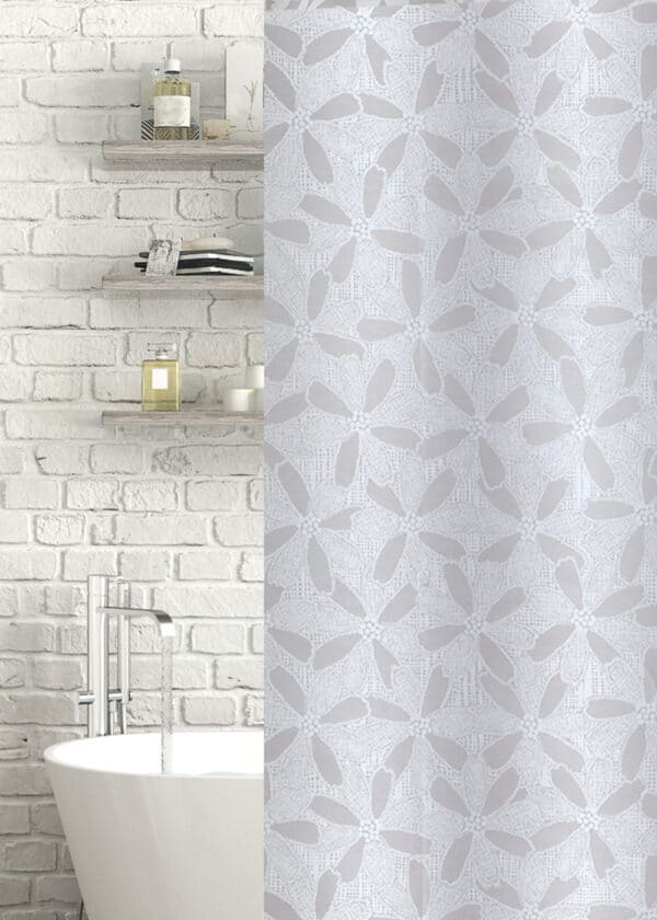 Blossom Eva Shower Curtain White/Frosted - Shower Accessories