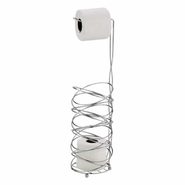 Celeste Wire Toilet Roll & Spare Paper Combo - Free Standing Toilet Roll Holders