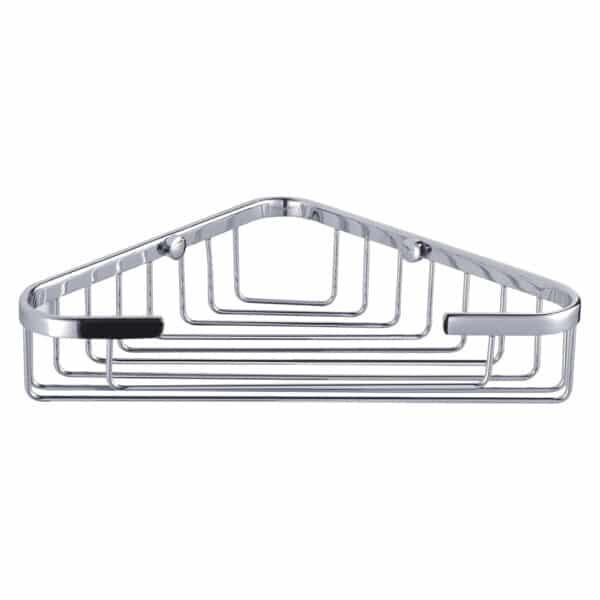 Clasico Stainless Steel Large Corner Basket - Bathroom Caddies and Baskets