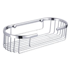 Clasico Stainless Steel Oval Basket - Bathroom Caddies and Baskets