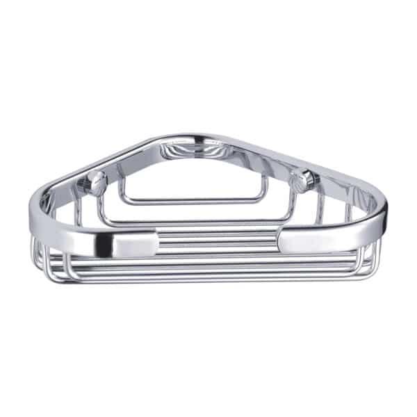 Clasico Stainless Steel Small Corner Basket - Bathroom Caddies and Baskets