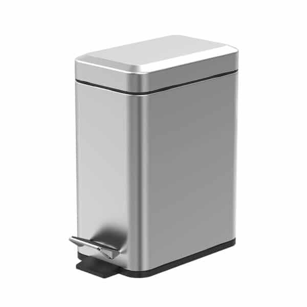 Cube 5 Litre Pedal Bin Satin Finish - Bathroom Bins