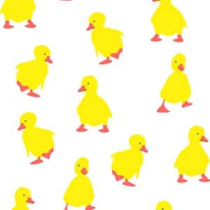 Duckling Polyester Shower Curtain - Shower Accessories