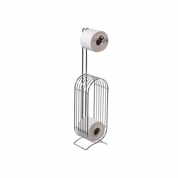 Eclipse Wire Toilet Roll & Spare Paper Combo Chrome - Free Standing Toilet Roll Holders