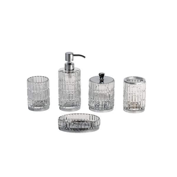 Elegance Collection 5 Piece Set - Bathroom Accessory Sets