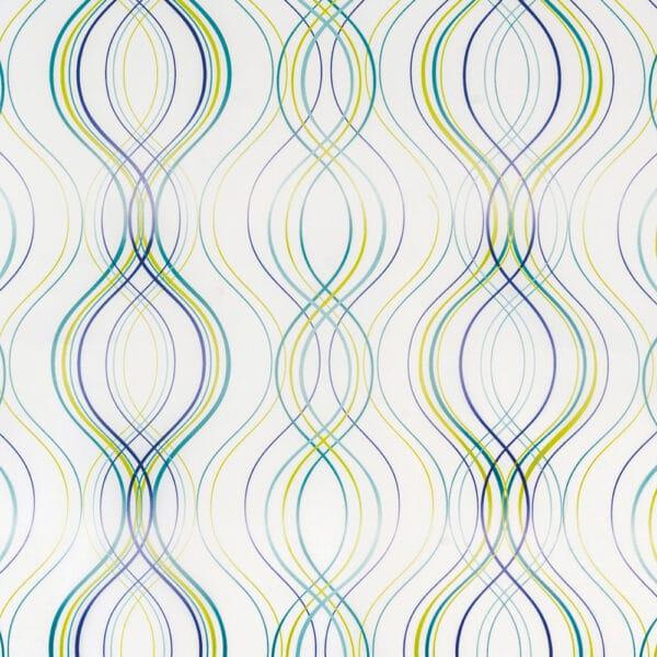 Fiesta Stripe Polyester Shower Curtain Green - Shower Accessories