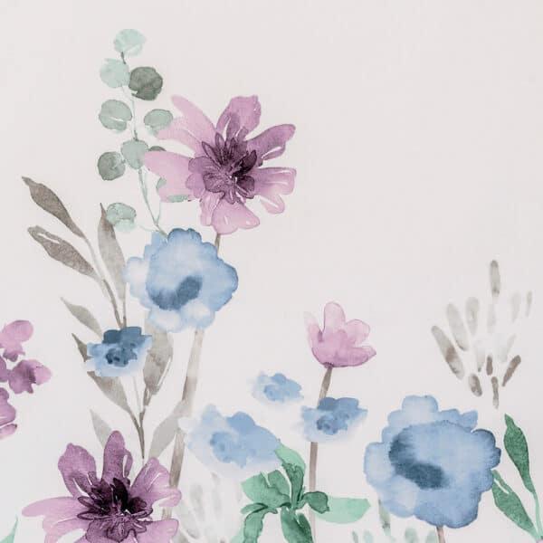 Jardenia Polyester Shower Curtain Blue/Purple - Shower Accessories