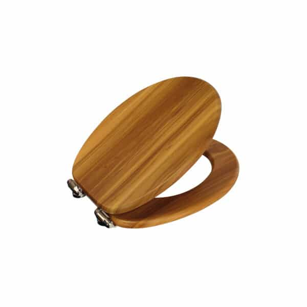 Norfolk Soft Close Toilet Seat Pine/Chrome - Toilet Seats