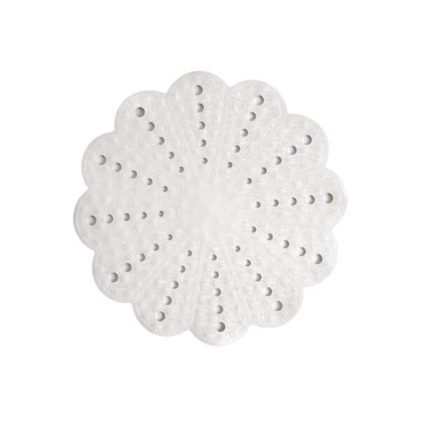 Petal Shower Mat White - Bathroom Mats