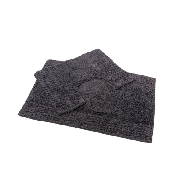 San Marino 2 Piece Cotton Bath Mat Set Charcoal - Bathroom Mats