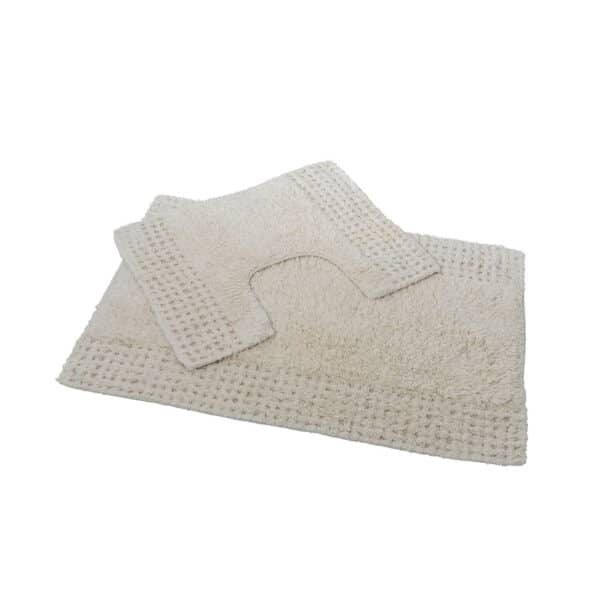 San Marino 2 Piece Cotton Bath Mat Set Cream - Bathroom Mats