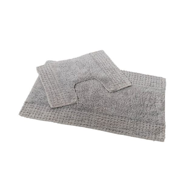 San Marino 2 Piece Cotton Bath Mat Set Grey - Bathroom Mats