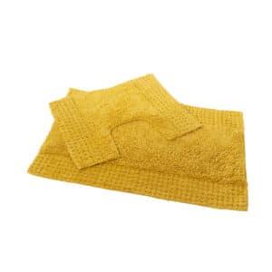 San Marino 2 Piece Cotton Bath Mat Set Mustard - Bathroom Mats