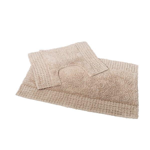 San Marino 2 Piece Cotton Bath Mat Set Sand - Bathroom Mats