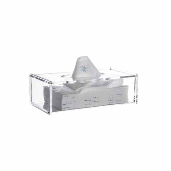 Serene Clear Acrylic Rectangular Tissue Box - Tissue Box Holders