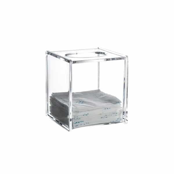 Serene Clear Acrylic Square Tissue Box - Tissue Box Holders