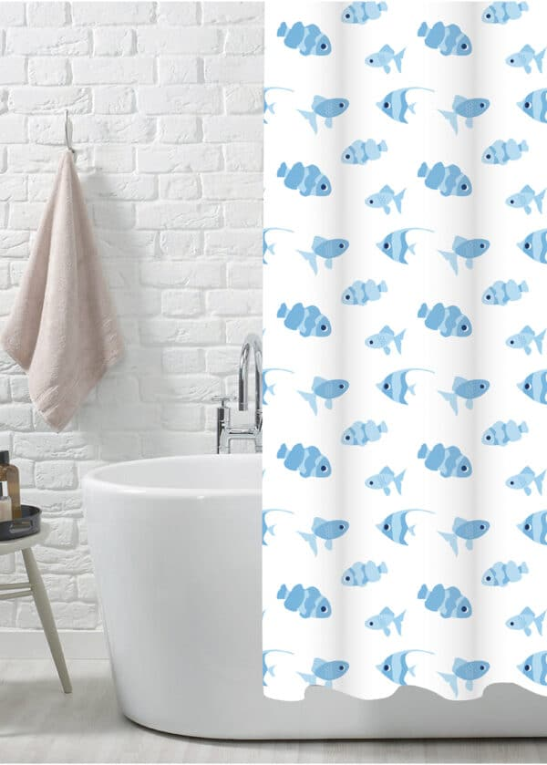 Snapper Polyester Shower Curtain - Shower Accessories