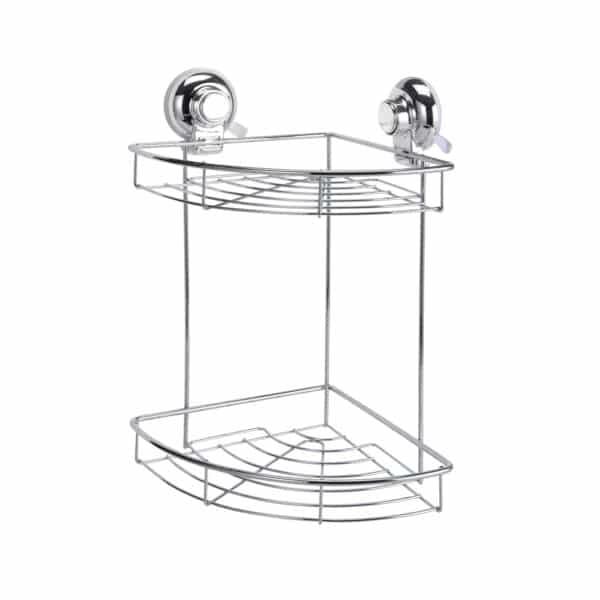 Super Suction Vertex 2 Tier Corner Basket - Bathroom Caddies and Baskets