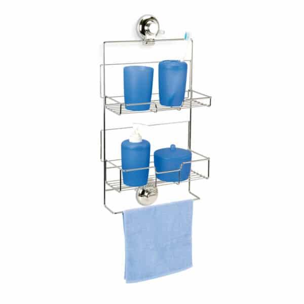 Super Suction Vertex Adjustable Shower Caddy - Bathroom Caddies and Baskets