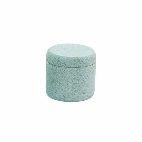 Terrazzo Storage Jar Duck Egg - Tissue Box Holders