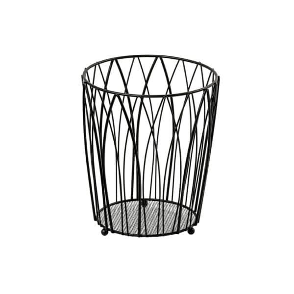 Vista Waste Paper Basket Black - Bathroom Bins