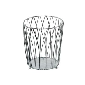 Vista Waste Paper Basket Chrome - Bathroom Bins