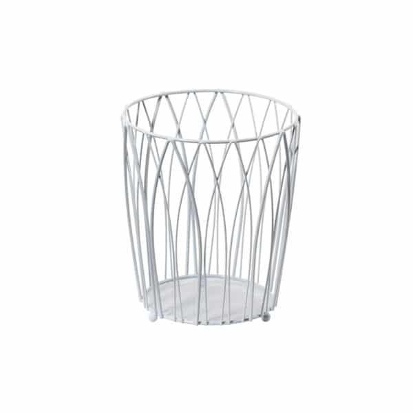 Vista Waste Paper Basket White - Bathroom Bins