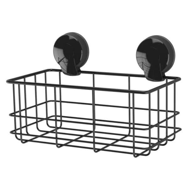 Suctionloc Bottle Basket Black - Bathroom Caddies and Baskets