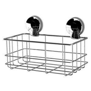 Suctionloc Bottle Basket Chrome - Bathroom Caddies and Baskets