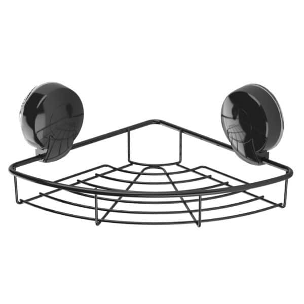 Suctionloc Corner Basket Black - Bathroom Caddies and Baskets