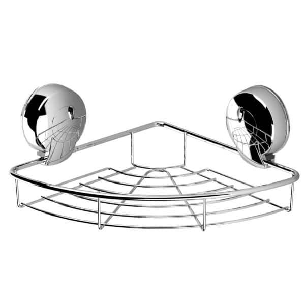 Suctionloc Corner Basket Chrome - Bathroom Caddies and Baskets