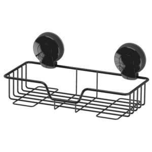 Suctionloc Rectangular Basket Black - Bathroom Caddies and Baskets
