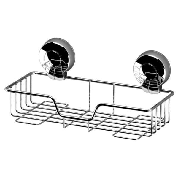 Suctionloc Rectangular Basket Chrome - Bathroom Caddies and Baskets