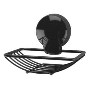 Suctionloc Soap Basket Black - Soap Dishes