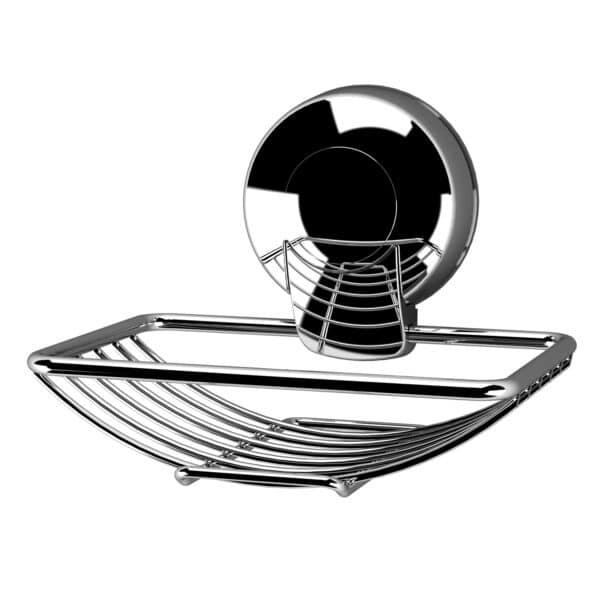 Suctionloc Soap Basket Chrome - Shower Accessories