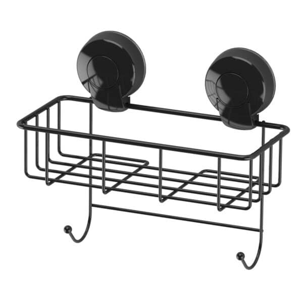 Suctionloc Sponge Basket Black - Bathroom Caddies and Baskets