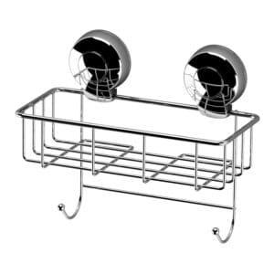 Suctionloc Sponge Basket Chrome - Bathroom Caddies and Baskets