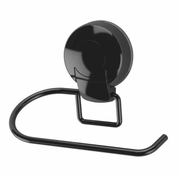 Suctionloc Toilet Roll Holder Black - Super Suction Bathroom Accessories