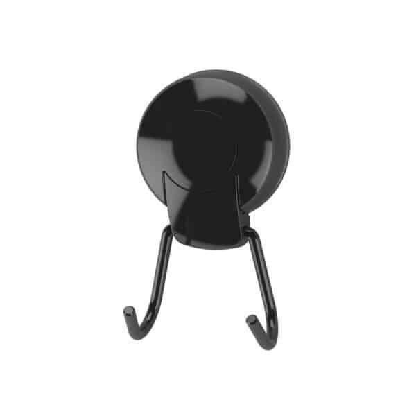 Suctionloc Twin Robe Hook Black - Over Door Hooks