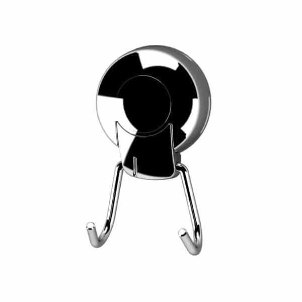 Suctionloc  Twin Robe Hook Chrome - Over Door Hooks